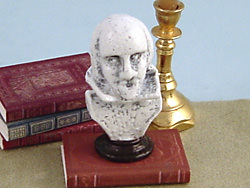 dollhouse Shakespeare bust