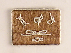 dollhouse Sailor's Knot Plaque